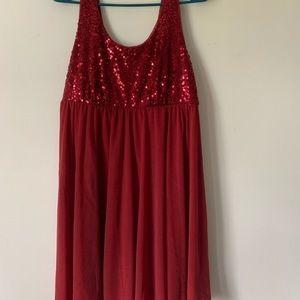 Apt 9 Red Sequin Dress